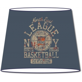 Abat-jour conique Vintage NY League Basketball