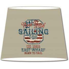 Abat-jour conique Vintage NY Sailing Club